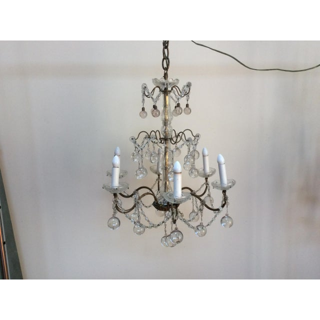 Clear Murano glass drop Chandelier For Sale In San Antonio - Image 6 of 6