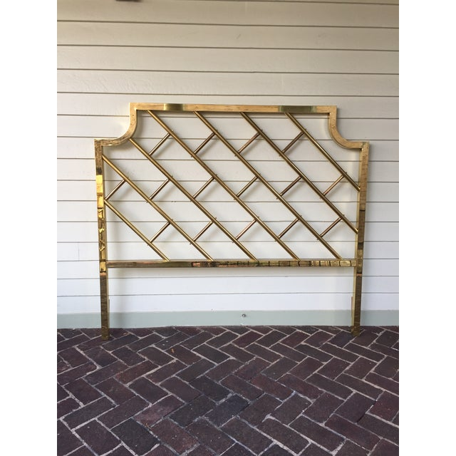 Chinese Chippendale Style Brass Queen Bedframe - Image 3 of 11