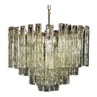 Tiered Murano Chandelier, Manner of Mazzega For Sale