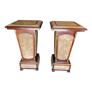 French Empire Marble Pedestals For Sale