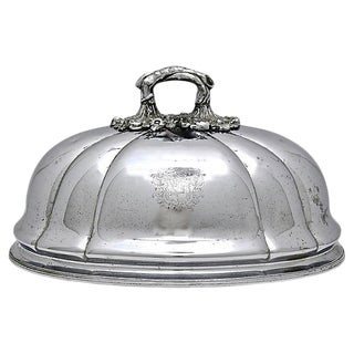 Antique Food Dome Cloche W/ Coat of Arms For Sale