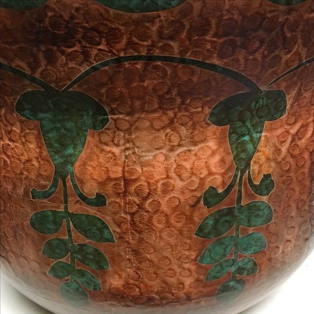 Mediterranean Oxidized Copper Planter For Sale - Image 3 of 6