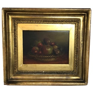 Antique Still Life Painting of Fruit British Mid-19th Century For Sale