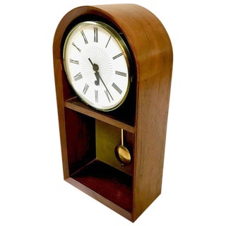 Mid-Century Walnut Howard Miller Pendulum Clock
