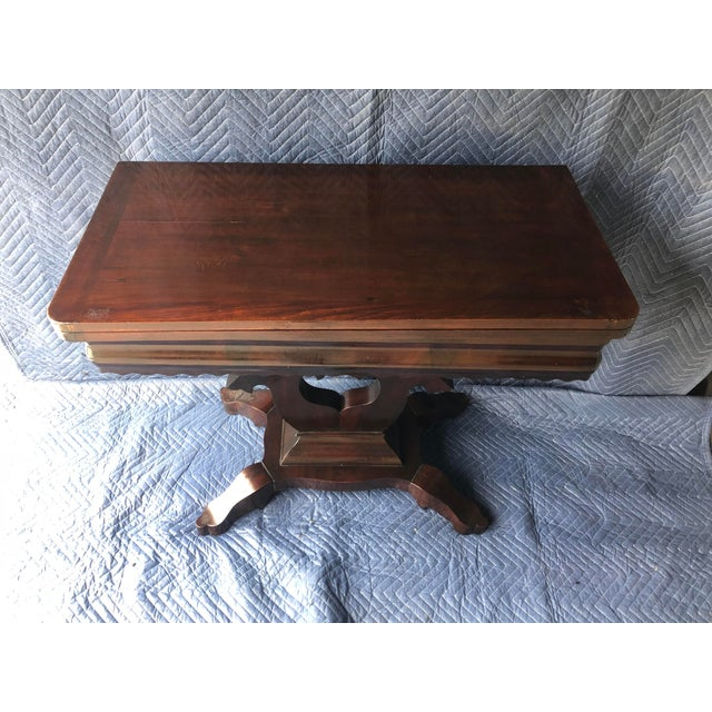 Farmhouse Traditional Swivel Top Mahogany Game Table For Sale - Image 3 of 6