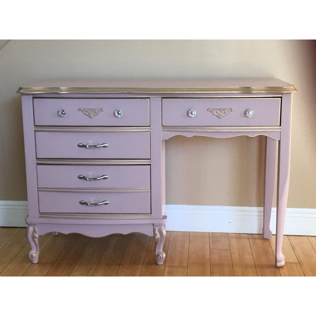 1960s Hollywood Regency Pink Vanity/Changing Table For Sale In Miami - Image 6 of 6