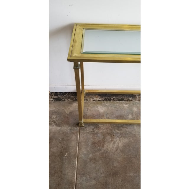 Mid-Century Modern 1970s Vintage Mastercraft Brass Console For Sale - Image 3 of 5