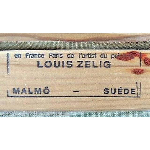 Loius Zelig Mid-Century Modern Painting For Sale - Image 10 of 10