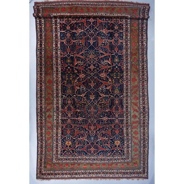 Oversized Blue Ground Garrus Bijar Carpet For Sale - Image 4 of 4