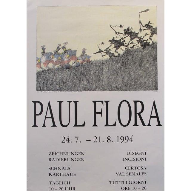 1994 Original German Exhibition Poster, Paul Flora - Image 3 of 3