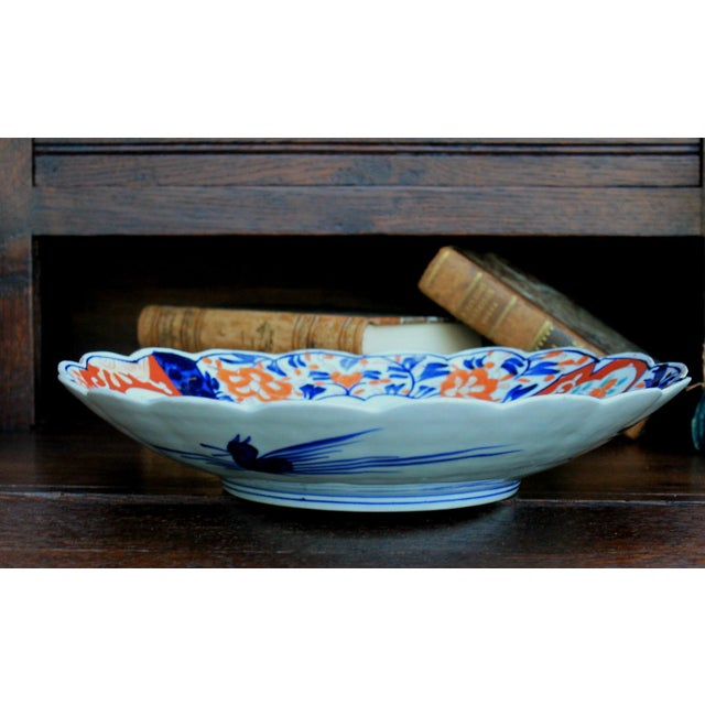 Mid 19th Century Antique 19th Century Imari Bowl Serving Dish Plate Charger Japan For Sale - Image 5 of 12