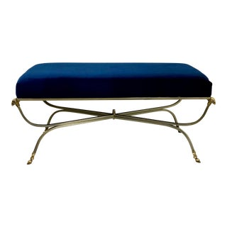 Mid-Century Neo-Classical Style Italian Bench in the Manner of Maison Jansen For Sale