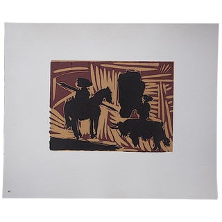 """Vintage Mid 20th C. Ltd. Ed. Picasso Lithograph-""""Avant La Pique"""" For Sale"""