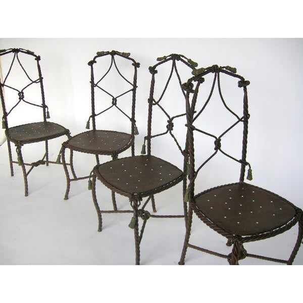 Traditional Antique French Cast Iron Garden Cafe Chairs For Sale - Image 3 of 11