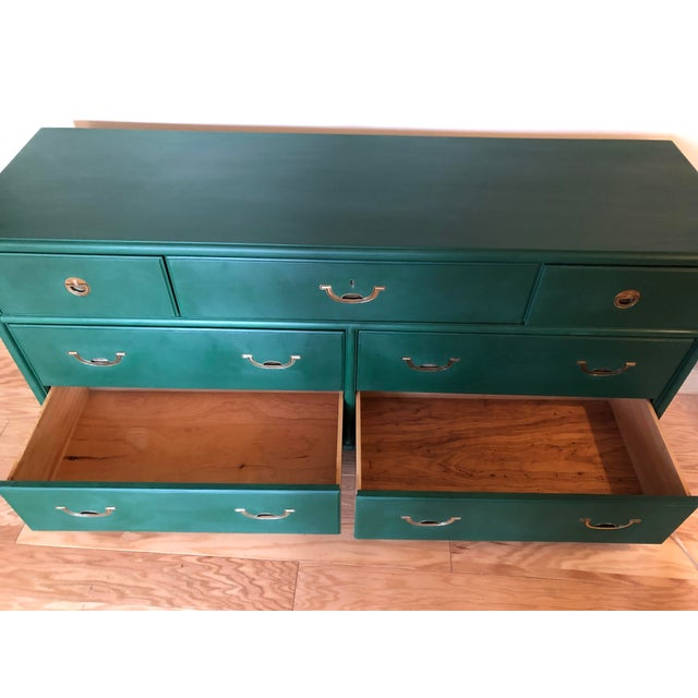 Brass 1960s Campaign Drexel Accolade Dresser For Sale - Image 7 of 10