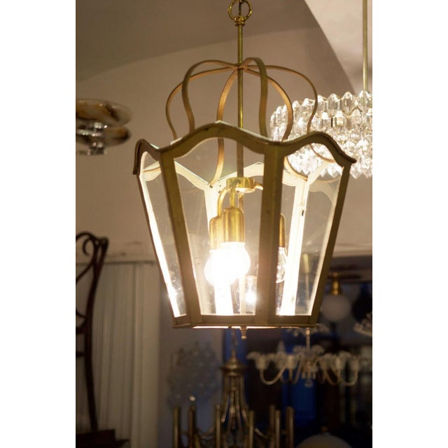 Large Viennese Art Nouveau hanging lamp, 1965 For Sale - Image 4 of 11