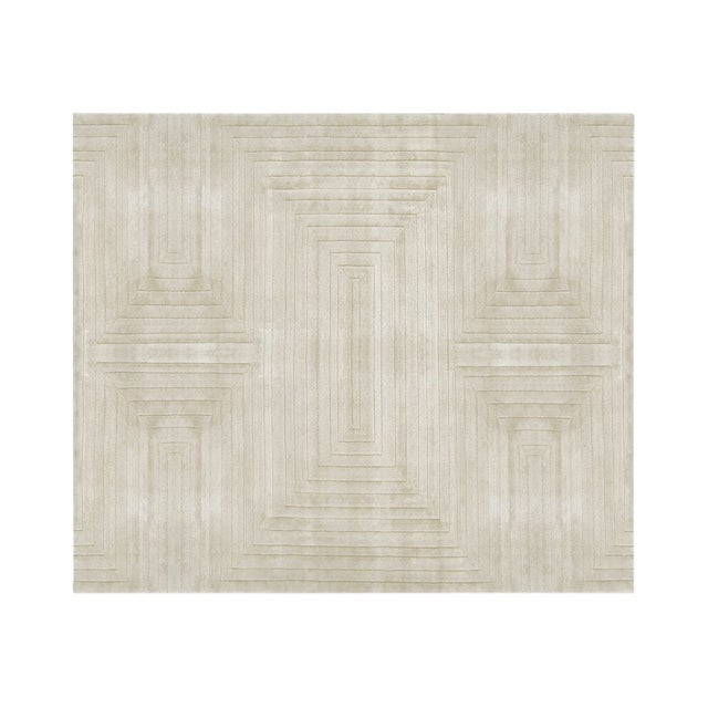 White Garden Neutral Rug From Covet Paris For Sale