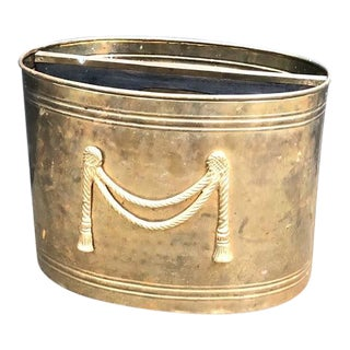 Hollywood Regency Solid Brass Planter For Sale