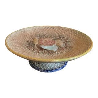 Majolica Shells and Netting Desert Stand