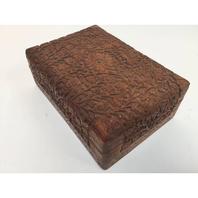 Anglo Raj Hand-Carved Decorative Box For Sale - Image 10 of 10
