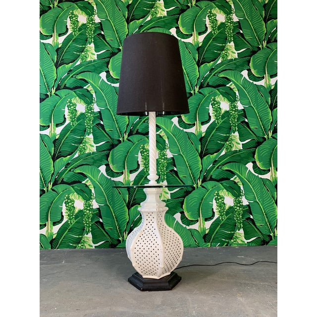 Reticulated Ceramic Floor Lamp Table by Nardini For Sale In Jacksonville, FL - Image 6 of 6