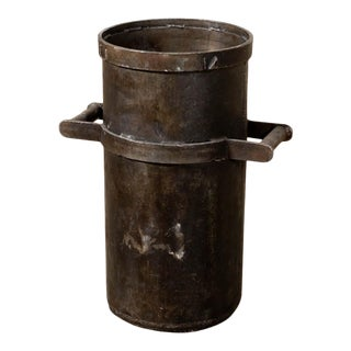 Vintage Industrial Iron Planter For Sale
