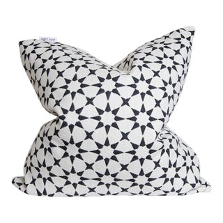 Transitional Black, White Starburst Green Abstract Pillow - 22 X 22 For Sale
