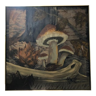 1970s Vintage Lee Reynolds Mushroom Painting For Sale