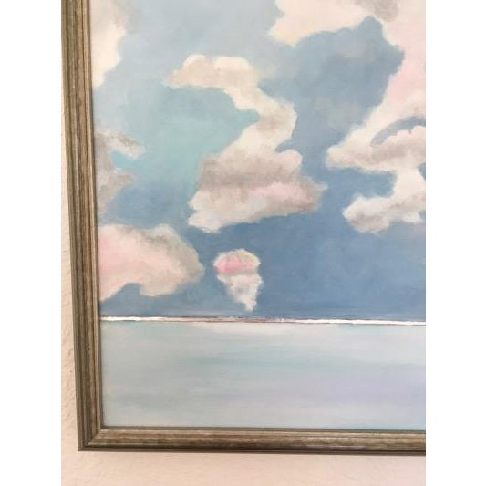 Pink Cloud Sky Original Painting by Natalie Mitchell For Sale - Image 4 of 7
