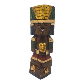 1970s Ethnic Sculpture in Wood For Sale