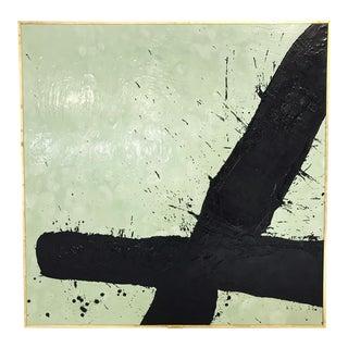 """John O'Hara. Tar, 21. 49x49"""" Abstract Painting."""
