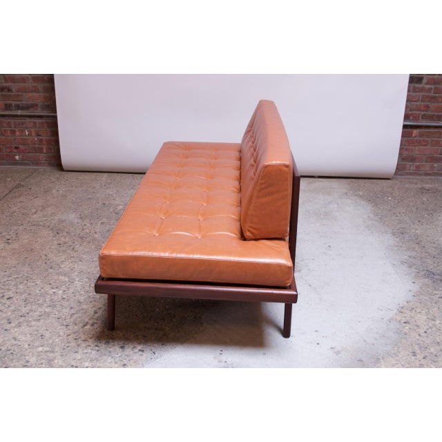 Mid-Century Walnut and Leather Daybed / Settee by Mel Smilow For Sale In New York - Image 6 of 13