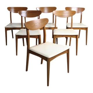 Original Set of 6 Heywood Wakefield Topaz Chairs For Sale