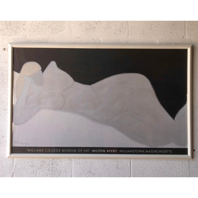 Rare Milton Avery 'Reclining Blonde' Framed Lithograph Print Exhibition Poster. For Sale - Image 11 of 12