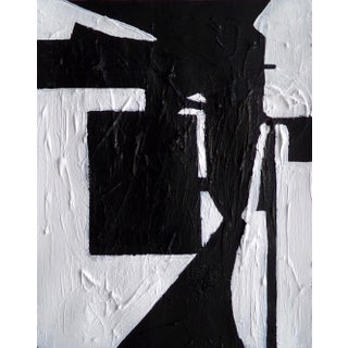 Abstract Original Black and White Contemporary Painting by Brian Elston For Sale