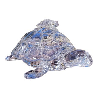 Crystal Turtle Candy Bowl For Sale