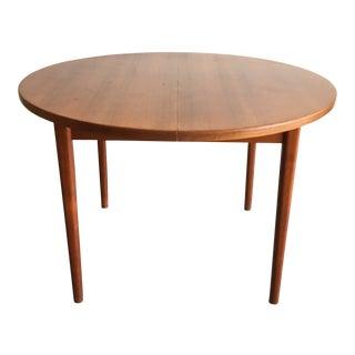 Mid Century Danish Modern Nils Jonsson Expandable Teak Dining Table For Sale