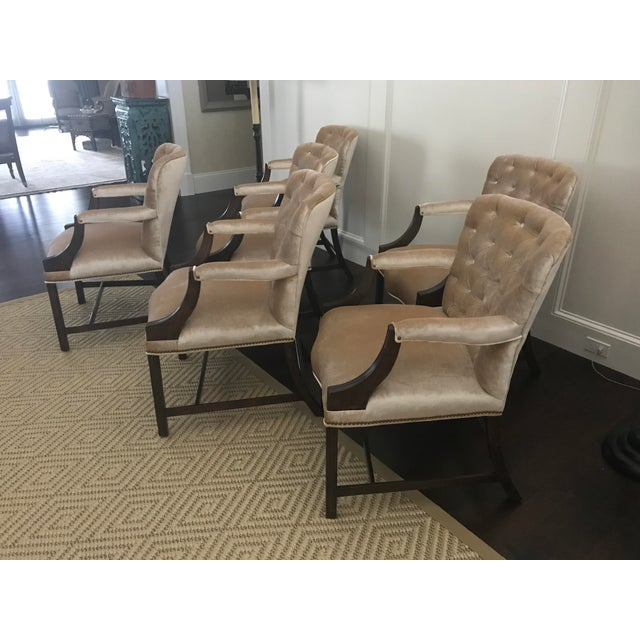 Beautifully designed Chippendale Rose Tarlow set of SIX dining room arm chairs. This specific item/chair is still...
