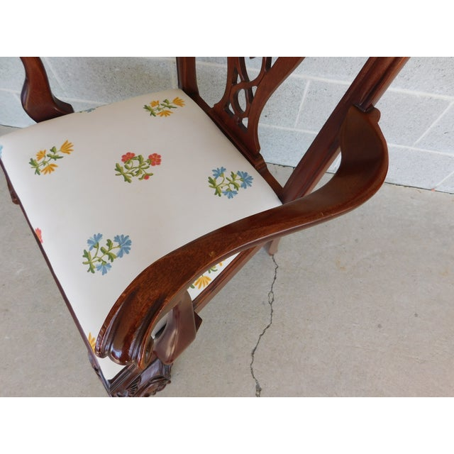 Wood Quality Chippendale Style Mahogany Ball & Claw Foot Side Chairs - Set of 6 For Sale - Image 7 of 13
