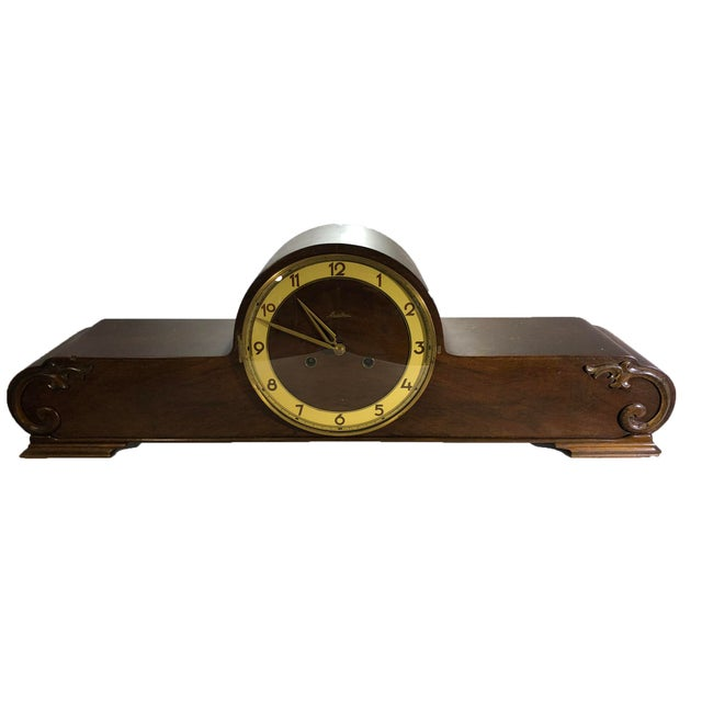 Brass Mauthe Traditional Mantel Clock For Sale - Image 7 of 7