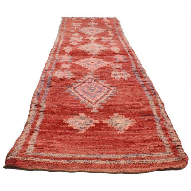 Vintage Berber Moroccan Runner with Tribal Style - Image 2 of 5