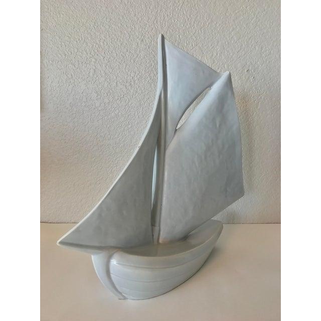 Vintage French Ceramic Sailboat - Image 4 of 11