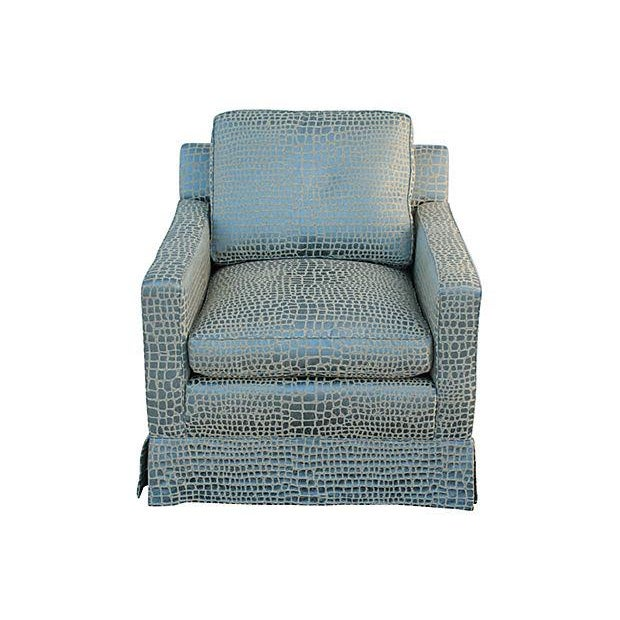 Faux Crocodile Sofa & Club Chair - Image 6 of 7
