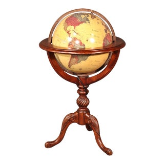 Vintage Classica Lighted French Style World Globe For Sale