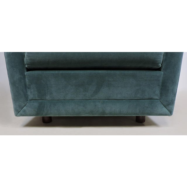 Blue Mid-Century Modern Wormley Probber Style Cube Lounge Chair For Sale - Image 8 of 12