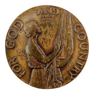 1925 Bronze American Legion School Award Medal For Sale
