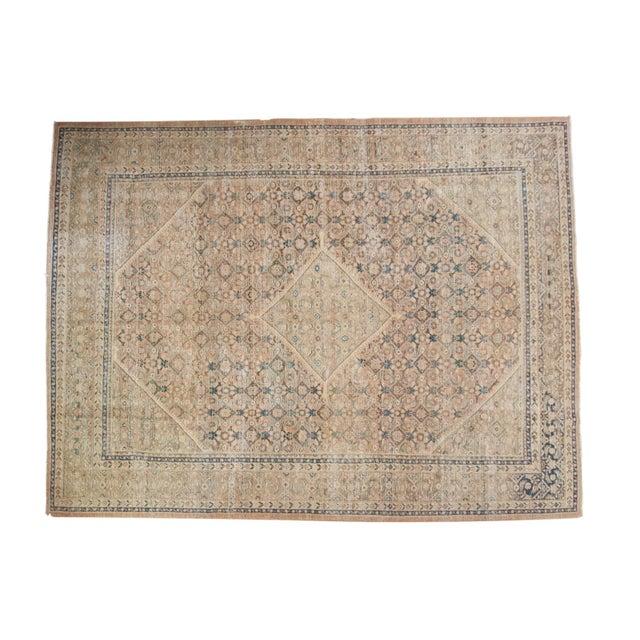 "Vintage Distressed Mahal Carpet - 9'9"" X 12'8"" For Sale - Image 13 of 13"