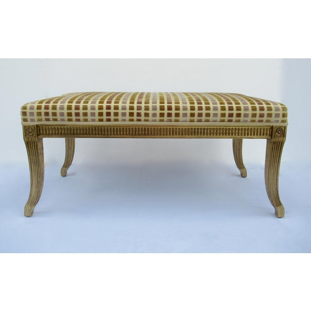 Vinatge C. Late 1980's-early 90s; Is this gorgeous and classic bench, with a transitional look for today by Interior...