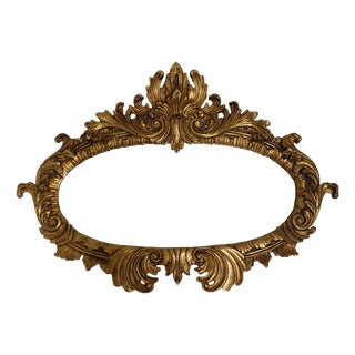 Italian Hand Carved Oval Gold Acanthus Mirror
