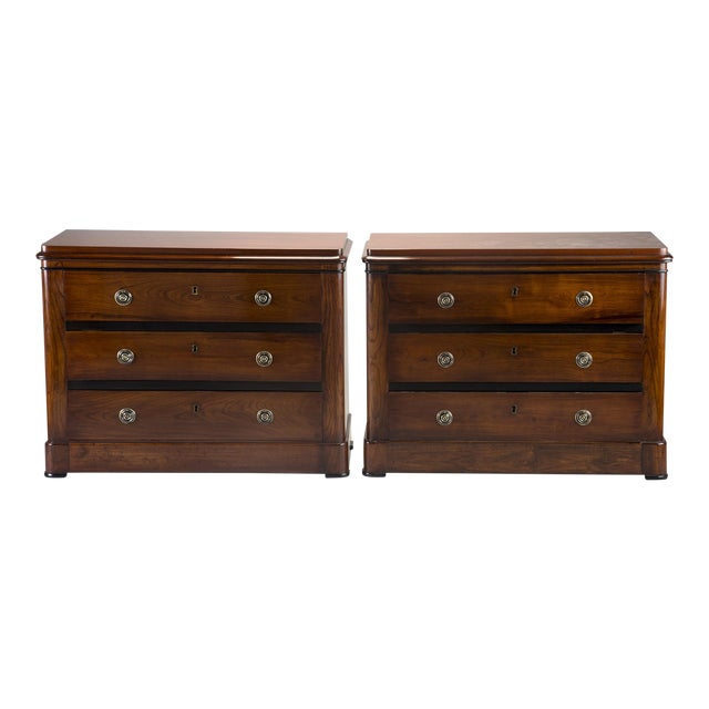 Pair Mahogany Chests With Black Detailing - Image 1 of 11